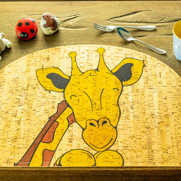 Giraffe Cork Placemat, Rooomy magazine for kid's