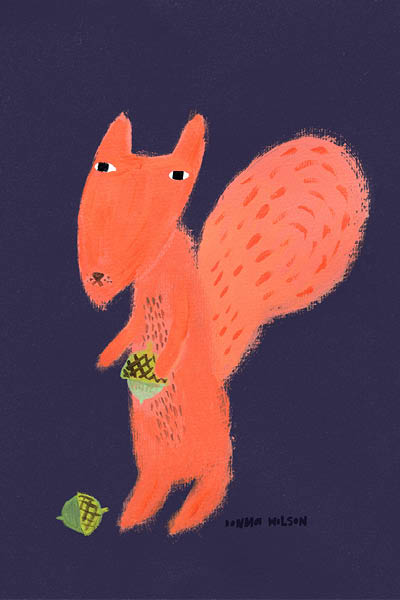 Squirrel by Donna Wilson